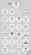 100 x Personalised Wedding Bomboniere Envelope White Paper Sticker Seal Lables