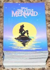 Disney The Little Mermaid complete set of 127 cards by Proset in 1991.