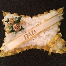 Artificial Silk Flower Pillow Wreath,funeral,breavement,tribute Any Colour