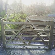 6ft 5 Bar Wooden Diamond Braced Farm Field Entrance Pathway Gate 1.8m 180cm