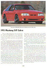 1993 Ford Mustang Cobra Article - Must See !!