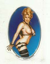 """OLIVIE DE BERADINIS PIN-UP STICKER DECAL SOUTHERN BELLE 3 1/2"""" x 5 1/3"""""""