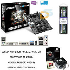 UPGRADE SCHEDA MADRE HDMI USB 3.0 + CPU 4.20 GHZ + RAM 8GB BUNDLE GAMING 1600MHz