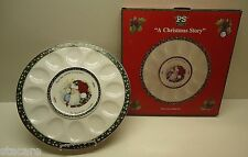 """A Christmas Story"" Susan Winget Portmeirion Studio EGG HORS D'OEUVRE TRAY & BOX"