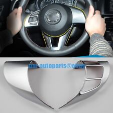 PM Interior Chrome Steering Wheel Switch Panel Trims New for Mazda 6 Atenza 2014