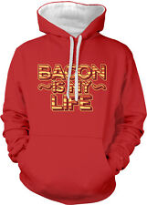 Bacon Is My Life Meat Candy Paleo Breakfast Food Barbecue 2-tone Hoodie Pullover