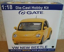 Gate VW New Beetle Coupe '98 Black Car Hobby Model Kit Die-Cast 1:18 Scale NEW
