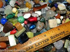 NEW Premium 12/oz Glass, Gem Stone 6-15mm Mix color Large MIXED LOOSE BEADS LOT