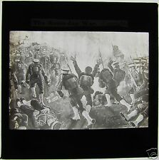 Glass Magic lantern slide RUSSO JAPANESE WAR - LAND MINE EXPLODING