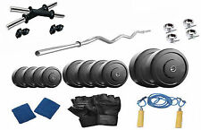 Protoner   30 Kgs With 3 Rods PVC Weight Lifting Home Gym Fitness Pack