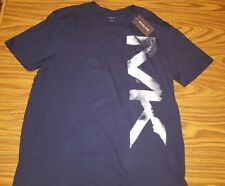 NWT $45.00 MEN'S MICHAEL KORS MIDNIGHT MK LOGO T-SHIRT SIZE MEDIUM AUTHENTIC
