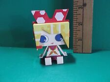 "#917 Vocaloid Anime Girl Square Block Head Yellow Hair Cutie Girl 2.25""in Figure"