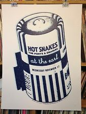 HOT SNAKES PONYS CONCERT POSTER by Henry Owings Edn of 60 RFTC DRIVE JEHU