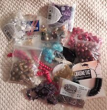 Vge/New 1.5 LB Bulk Mixed Lot of Beads, Glass, Plastic, Jewlery Making Parts