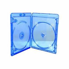 10 Double Slim Blu ray Case 11mm Spine Brand New Empty Cover Face on Face HQ AAA