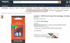 $50 NEW + GENUINE + OEM LEXMARK 41 Color Ink Cartridge 18Y0141 X7550 X6575 X9575
