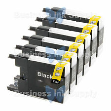 6 BLACK LC71 LC75 NON-OEM Ink for BROTHER MFC-J430W LC-71 LC-75 LC71BK LC75BK