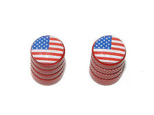 USA American Flag - Motorcycle Bicycle Tire Valve Stem Caps - Colors