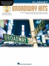 Instrumental PlayAlong Broadway Hits Clarinet Learn Play Shows Music Book & CD