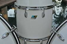 "RARE 1970's LUDWIG WHITE CORTEX 15"" CONCERT TOM for DRUM SET LOT #G715"