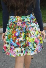 NEW NWOT ZARA FLORAL PRINTED HIGH WAISTED TULIP MINI SKIRT M UK 10 US 6 EU 38