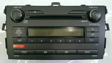RADIO CD MP3 TOYOTA COROLLA E15 JAPAN 2006-2010 REF OEM: 86120-12B00