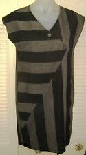VTG 1980s TIMELY II TRENDS Sleeveless GRAPHIC STRIPED Dress Small Size