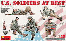 MiniArt 35200 U.S. SOLDIERS AT REST 1/35  PLASTIC MODEL KIT FIVE FIGURES