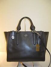 Coach 33545 Mink Leather CROSBY Carryall Tote Crossbody Bag $395