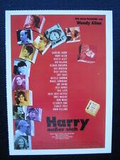 Filmplakatkarte / moviepostercard  cinema  Harry außer sich   Woody Allen