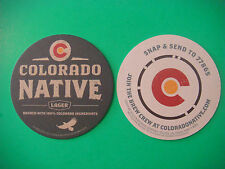 2 Beer Coasters ~ AC GOLDEN Brewing Co Colorado Native Lager ~ Golden, CO Brews