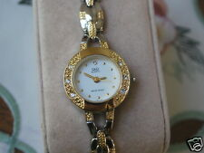 New Q&Q by Citizen Two Tone Lady Dress Watch w/Diamond Bezel