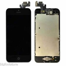 Black Apple iPhone 5 Full LCD/Digitizer W/Button/Camera Repair Assembly Part OEM