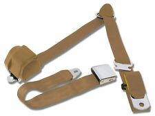 Mustang Falcon Ranchero  Retractable 3-Point Shoulder seat Belts Parchment