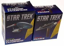 Star Trek Starship Enterprise Light Up Phaser Set Replica Toy Mega Mini Kit Book