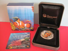 2010 AUSTRALIAN SEA LIFE THE REEF: CLOWNFISH 1/2 oz SILVER PROOF COIN
