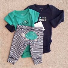NEW!! CARTER'S PREEMIE 3PC LITTLE SPEEDSTER TURTLE OUTFIT ADORABLE