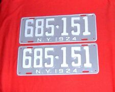 1924 New York License Plates Ford Chevy Dodge Buick Cadillac Olds Packard Graham