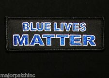 BLUE LIVES MATTER THIN BLUE LINE POLICE TACTICAL MORALE BADGE SWAT VELKRO PATCH