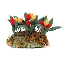 Yellow Red Tulip Flower Clay Plant Plants Dollhouse Miniature Accessories