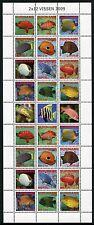 SURINAM 2009 Fische Fishes Pesci Poissons 2291-2302 ZD-Bogen ** MNH