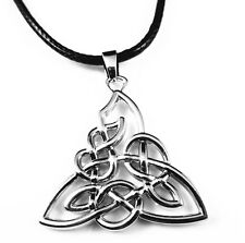 Ireland Celtic Triquetra Triangle Trinity Knot Pendant Choker Necklace