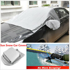 Car Windshield Covers Sun Snow Frost Ice Cotton Window Mirror Protector Magnetic