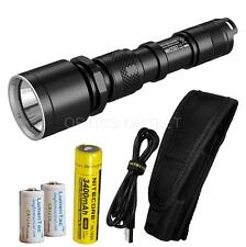 NiteCore MH25GT 1000 Lumen USB Rechargeable LED Flashlight w/ 1x18650 & 2xCR123A