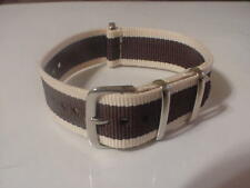 Tan/Brown 20mm Nylon G10 Military strap band for TIMEX Weekender & ZULU Watch ++