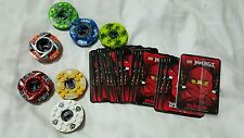 Lot of 7 Lego Ninjago Spinner Spinners Nice