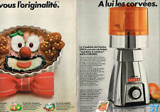 PUBLICITE ADVERTISING 034 1978 STECA éléctroménager ( 2 pages) le combiné 250313