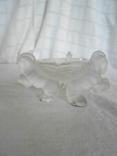 Czech art glass Art deco frosted winged horse Pegasus ashtray 1930's