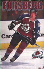 Peter Forsberg COLORADO AVALANCHE Original Starline Poster MINI Promo Piece 3x5