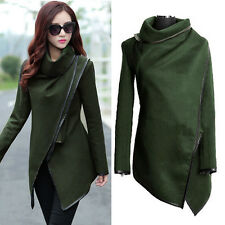 Women Lady Slim Winter Warm Trench Coat Long Wool Jacket Outwear Parka Cardigans
